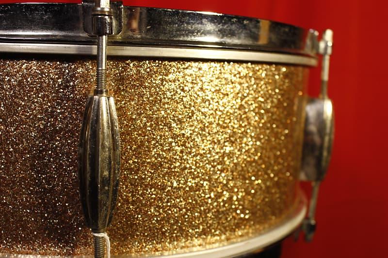 1965 Slingerland Gold Sparkle Snare Pre-Serial 1960s in Purple