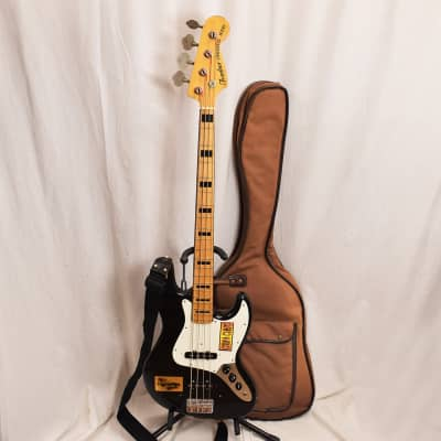 80's 1982 Fresher Jazz Bass JB 75 Personal Bass Japan Black with bag and strap for sale