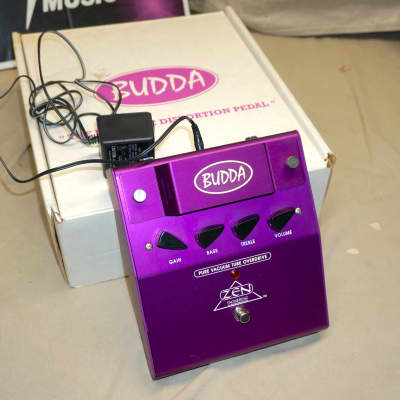 Budda Phatman Zen Engineering Pure Vacuum Tube Overdrive Pedal with Power Supply + Box Purple for sale