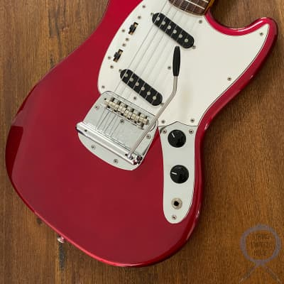 Fender Mustang, '69, Matching Headstock, Candy Apple Red, 2002 for sale