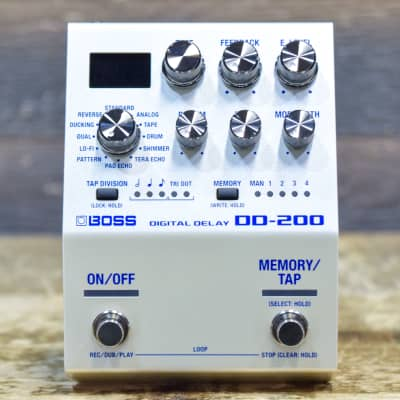 Boss DD-200 Digital Delay 12 Versatile Modes w/Looper Stereo Delay Effect Pedal
