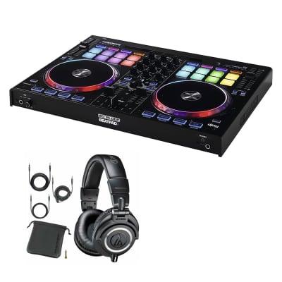 Reloop BeatPad 2 - Cross Platform Controller for iPad, Android & Mac/PC With Audio-Technica ATH-M50x Professional Studio Monitor Headphones, Black