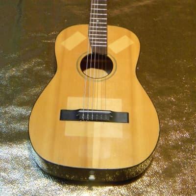 kleine vintage MUSIMA Gitarre Akustik 6string parlor guitar 1960s Germany Decke Zargen massiv for sale