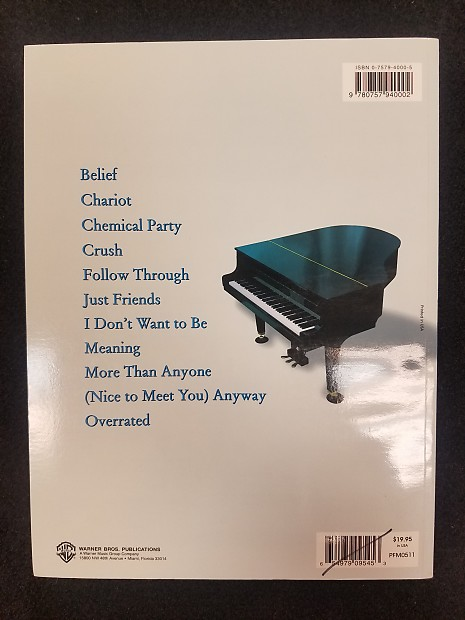 Gavin Degraw Chariot Piano Vocal Chords Songbook Reverb