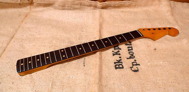 Fender Stratocaster Neck >> Vintage Fender Stratocaster Neck 1959 1962 Slab Board Reverb