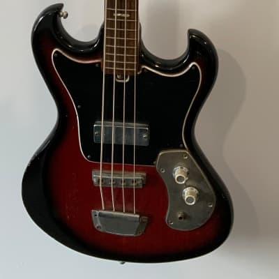 Kingston Short Scale Bass 1960's Red Burst