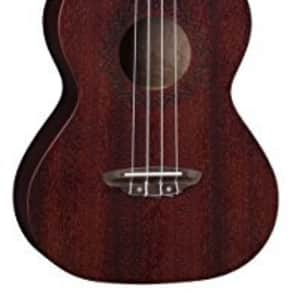 Luna Guitars UKE VMT RDS Luna Uke Vintage Mahogany Tenor - Red Satin for sale