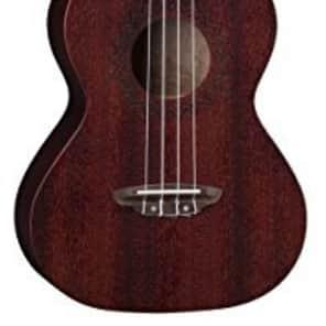 Luna Guitars UKE VMT RDS Luna Uke Vintage Mahogany Tenor - Red Satin for sale