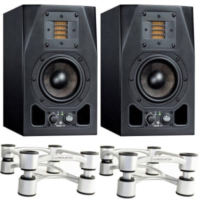 Adam A3X Nearfield Studio Monitor PAIR w/ IsoAcoustics Aperta Stands (Aluminum)