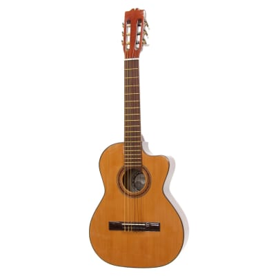New Paracho Elite DEL RIO Classical Mariachi Requinto Acoustic Guitar with Solid Cedar Top for sale