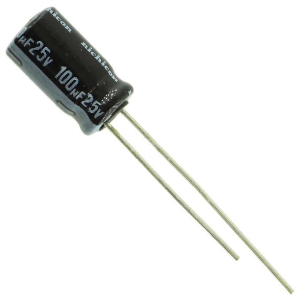 Nichicon Uvz Vz Electrolytic Capacitor 100 Uf 25v 6