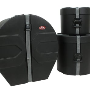 """SKB 1SKB-DRP4 Roto-Molded 10x12/16x16/18x24"""" 3pc Drum Case Package"""