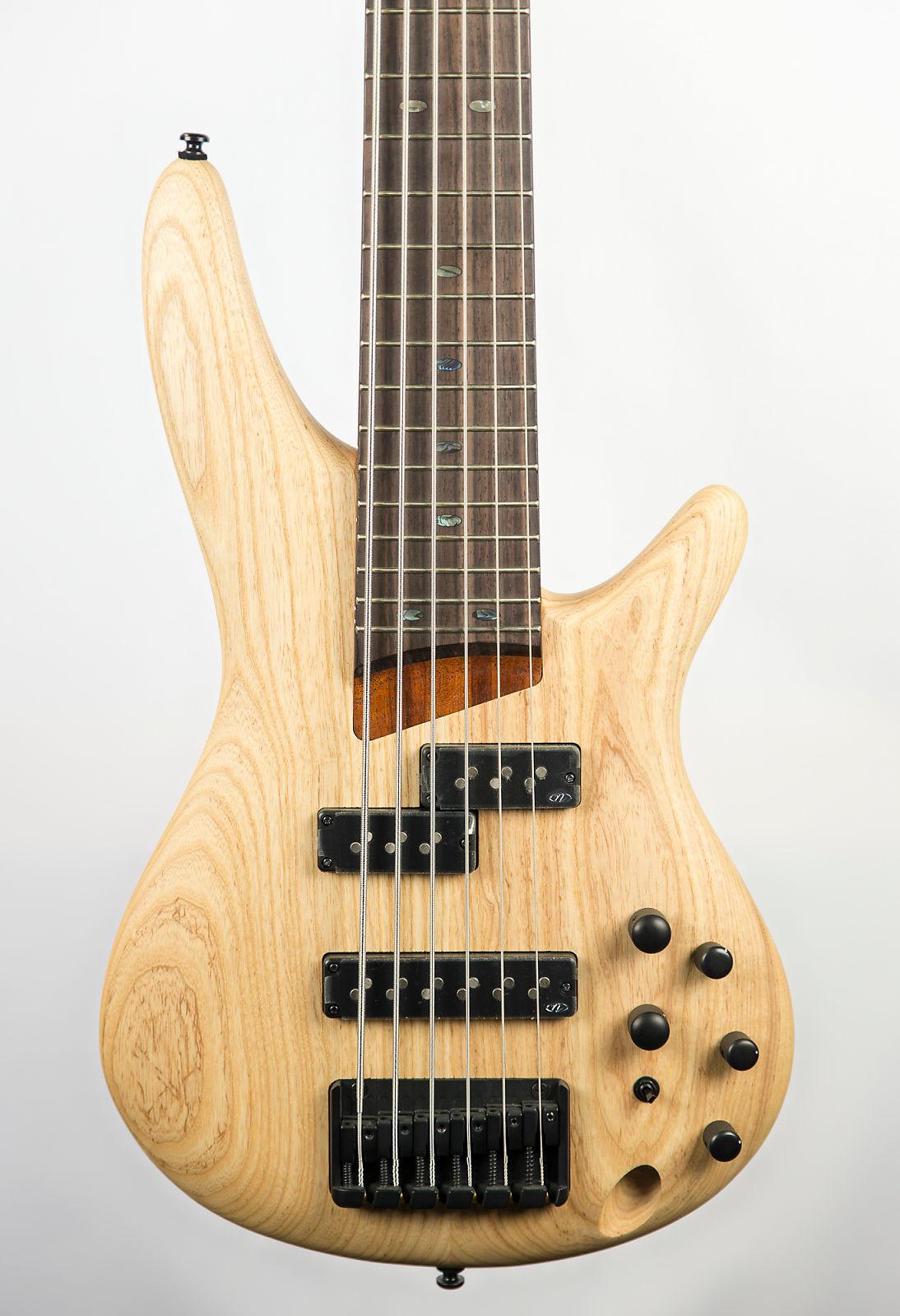 Ibanez SR656 6-String Bass Guitar Natural Flat