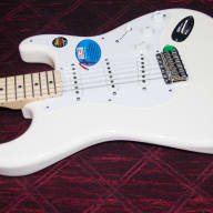 <p>Fender Fender Artist Series Jimmie Vaughan Tex-Mex Stratocaster Electric Guitar  2016 Olympic White</p>  for sale