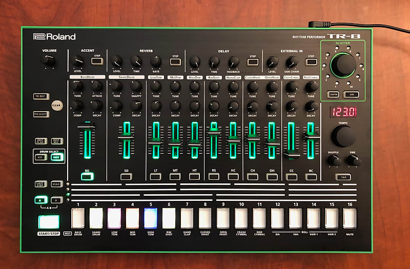roland aira tr 8 rhythm performer with 7x7 expansion reverb. Black Bedroom Furniture Sets. Home Design Ideas
