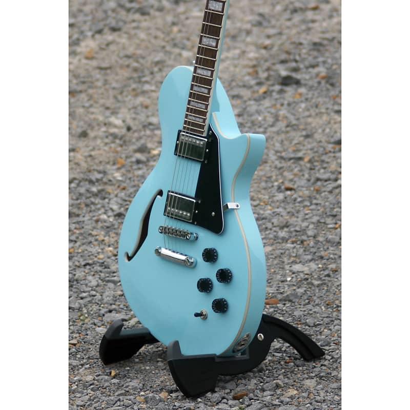 ltd xtone semi hollow body electric guitar sonic blue new reverb. Black Bedroom Furniture Sets. Home Design Ideas