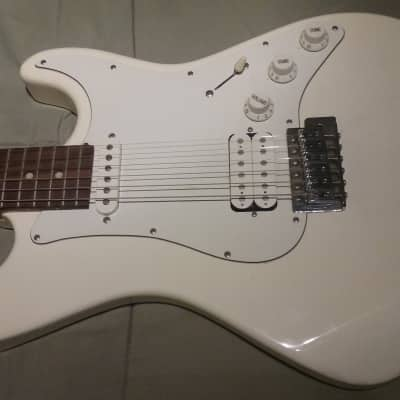 White Dean Playmate Solid Body Guitar for sale
