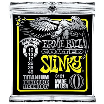 Ernie Ball 3121 Coated Titanium Slinky 10-46 Electric Guitar Strings