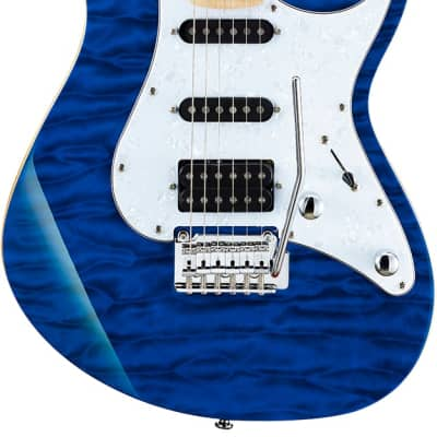Cort G Series G250DX Electric Guitar, Trans Blue for sale