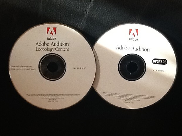 Adobe Audition Upgrade /Loopology CD's 2003 (Used) W/Out Serial Number