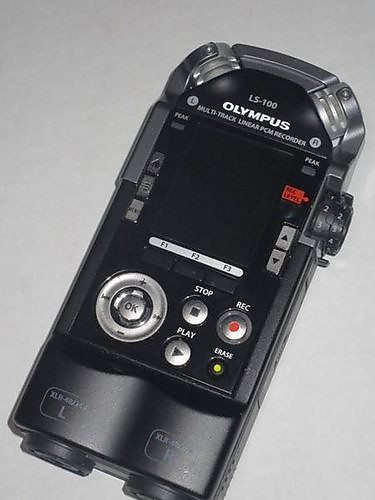Olympus LS-100 Multitrack Field Recorder W/ Case 8 Track