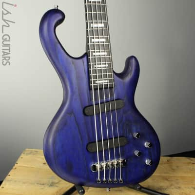 Ritter Cora 5 String Bass Guitar Sandblasted Blue Ash Body Block Inlays for sale