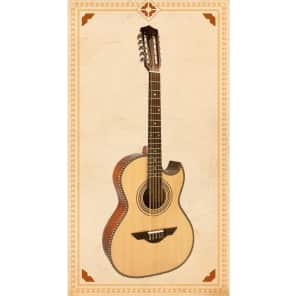 H. Jimenez LBQ1E El Estandar Acoustic-Electric Bajo Quinto