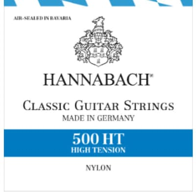 HANNABACH 500 HT CLASSICAL GUITAR STRINGS HIGH TENSION - GERMANY for sale
