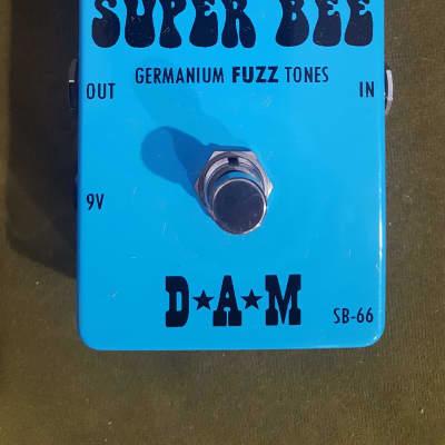 D*A*M Super Bee SB-66 Germanium Fuzz Box 2014 Blue | Reverb