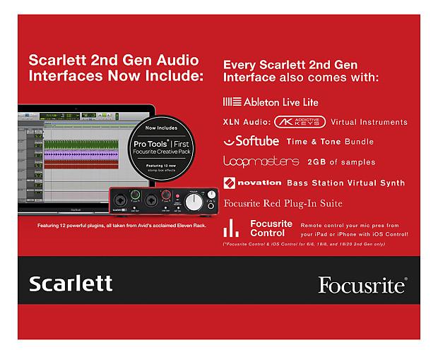 Focusrite Scarlett 2i2 Studio 2nd Gen Open Box Reverb