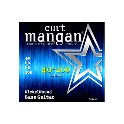 NEW Curt Mangan Nickel Wound Bass Strings - .040-.100