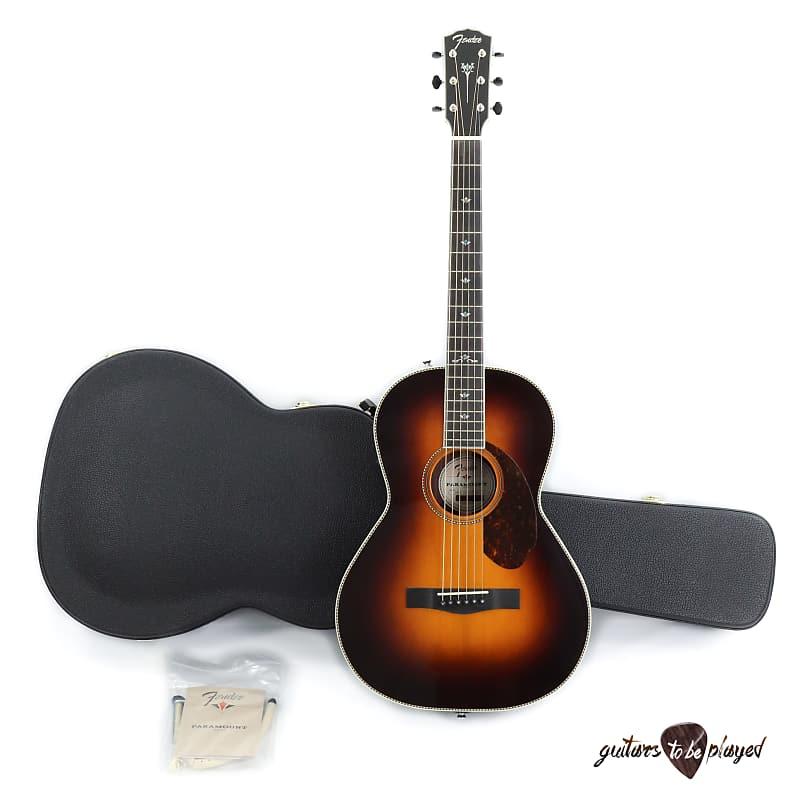 Fender Paramount PM-2 Deluxe Parlor Acoustic/Electric Guitar w/ Case - Sunburst image