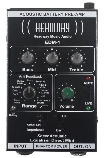 Headway Edm 1 Audiophile Quality Mini Belt Clip Reverb
