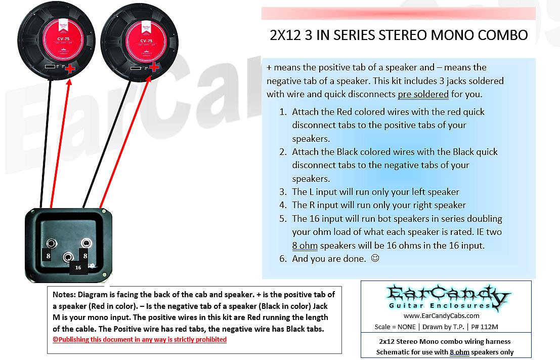 Groovy Earcandy 2X12 2X10 Guitar Amp Speaker Cab Series Stereo Mono Combo 8 Wiring Digital Resources Otenewoestevosnl