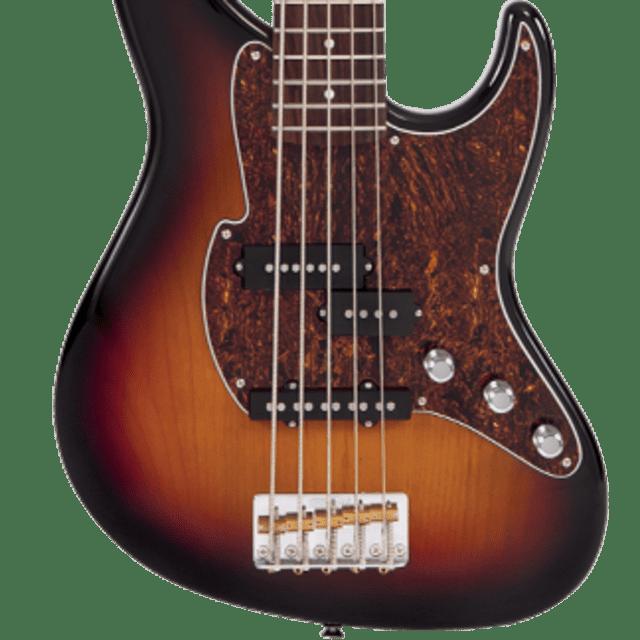 Fret-King Black Label Perception Bass FKV4+1OCB Classic Burst 5-String, New, Free Shipping image