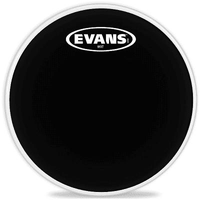 "Evans TT12MXB MX Black Marching Tenor Drum Head - 12"""