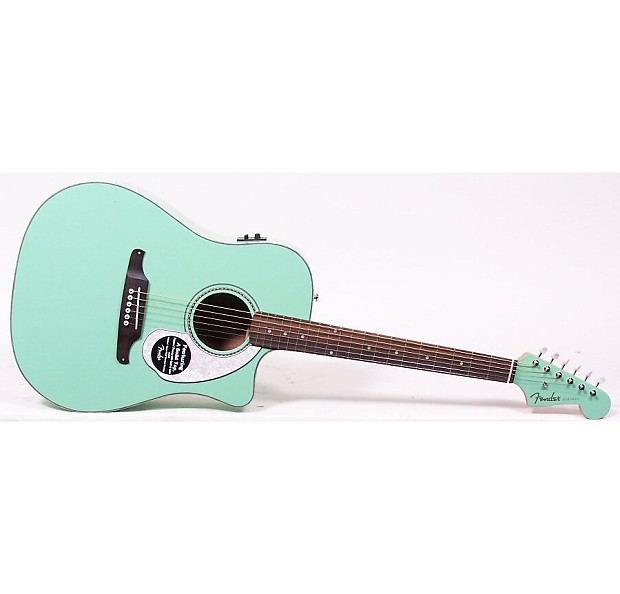 Fender Sonoran Sce Acoustic Electric Guitar Surf Green Reverb