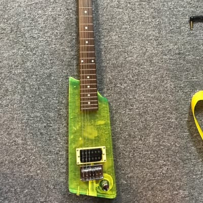 Grand Plexi glass electric guitar Green for sale