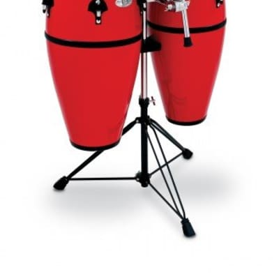 Toca Percussion Synergy Series Fiberglass Conga Drums w/ Stand Red