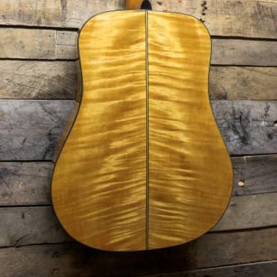 Conn Vintage Acoustic Guitar w/ Flamed Maple Back - Made in Japan w/ Gig bag for sale