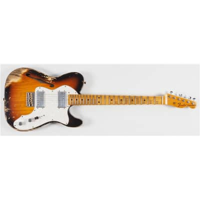 Fender Custom Shop LTD '72 Telecaster Thinline Heavy Relic, Faded Aged 3-Colour Sunburst for sale