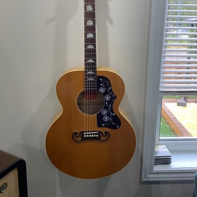 Gibson J-100 XT 2003 Natural / Flamed Maple back and sides for sale