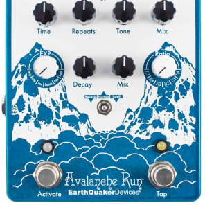 New Earthquaker Devices Avalanche Run V2 Delay Reverb Guitar Effects Pedal!