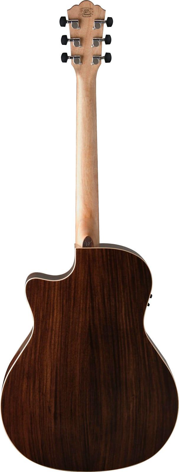 Washburn Woodline O20SCE Solid Sitka Spruce / Pau Ferro Cutaway Acoustic Electr