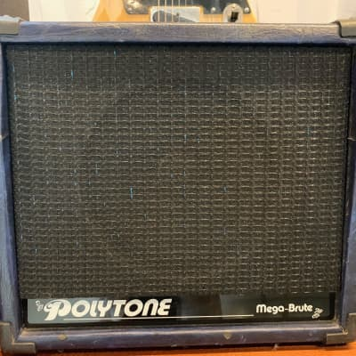 Polytone Mega-Brute 75-Watt 4-Ohm Solid-State Electric Guitar Combo Amplifier - Rare blue covering! for sale