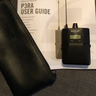 Shure P3RA Wireless Bodypack Receiver 2018 Black G20 Frequency