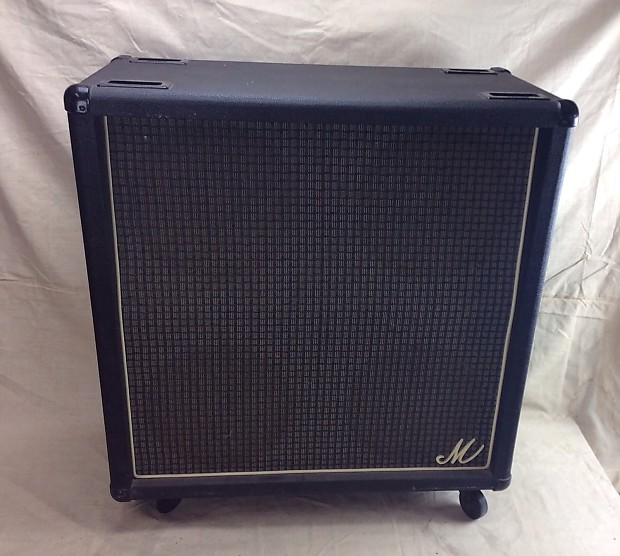 Beau Vintage Marshall Big M 4x12 Guitar Speaker Cabinet Circa 1978
