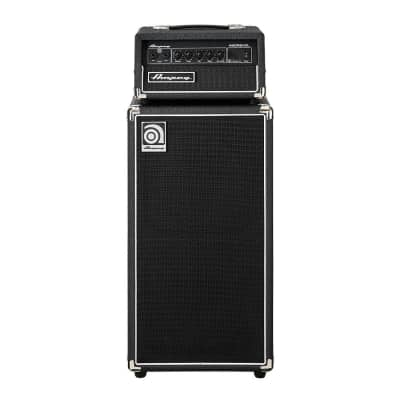 """Ampeg Micro CL 100-Watt 2x10"""" Compact Solid State Bass Amp Stack"""