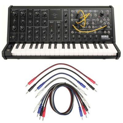 Korg MS-20 mini + 8 Pack Mixed 3.5mm Mono Patch Cables