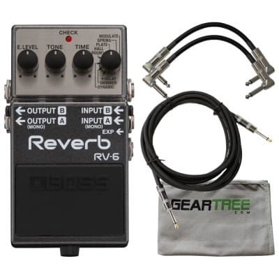 BOSS RV-6 Digital Reverb Guitar Effect Pedal Bundle for sale